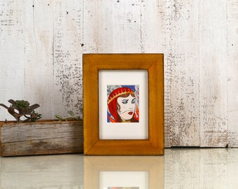 "5x7"" Picture Frame in 1.5 Standard Style with Super Vintage Honey Dye on Poplar Finish - IN STOCK - Same Day Shipping - 5 x 7 Photo Frame"