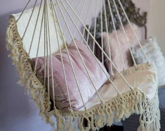 Hammock chair, Macrame swing chair, hammock chair indoor, boho hammock, 100% cotton