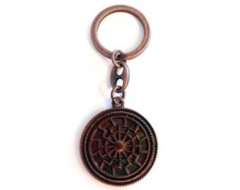 Keychain Sun Altbronze Black Sun Keychain Key fob