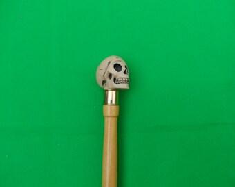 Ivory Style skull walking stick