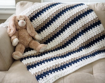 "Easy ""Done in a Day"" Crochet Baby Blanket Pattern"