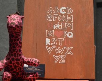 "Alphabet ""I Love You"" Wood"