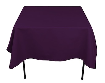 Rectangular Plum Tablecloth Polyester | Wedding Tablecloth | Choose Size