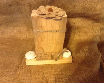 Rustic Wood Photo Display, Wood Photo Holder, Barnwood Photo Display, Wood Frame