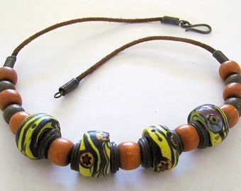 Vintage Venetian Glass Trade Bead Necklace