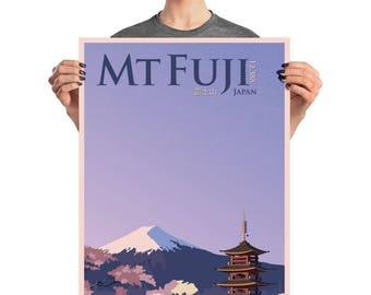 Mt. Fuji Travel Poster