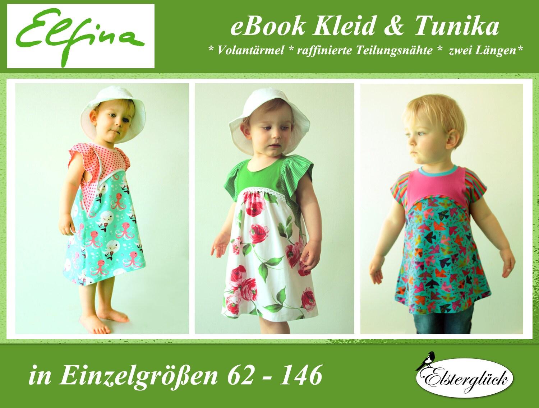 ebook ELFINA girl summer dress tunic sewing pattern pixie fay