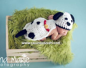 Spotted Dalmatian Dog Cuddle Cape Set Newborn Photography Prop