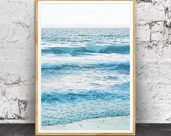 Coastal Print, Coastal Decor, Beach Decor, Ocean Wave Print, Beach Water Print, Ocean Water, Ocean Photography, Ocean Wall Art, Sea Print
