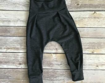 Dark Grey Harem Pants - Harem Pants - Dark Grey Bottoms - Boy Harem Pants - Baby Harem Pants - Toddler Harem Pants - Children Harem