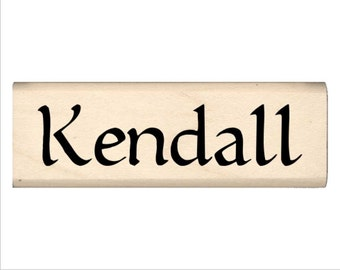 Kendall - Name Rubber Stamp for Kids