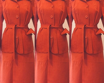 Quality Dominex '70s Burnt Orange Suit