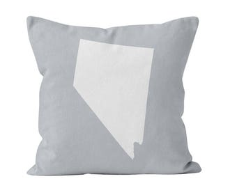 54 colors Nevada state throw pillow cover, Nevada home decor, Nevada gifts, NV new home missing home pillow gift