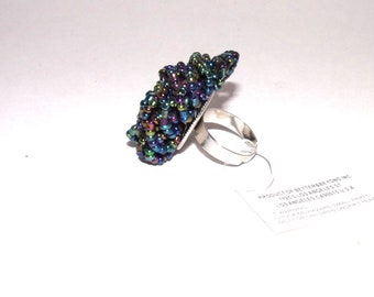 Black Seed Bead Ring