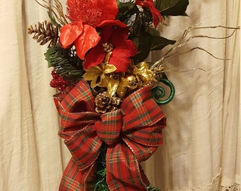 Christmas Tree Topper Bow, Christmas Bow, Christmas Floral