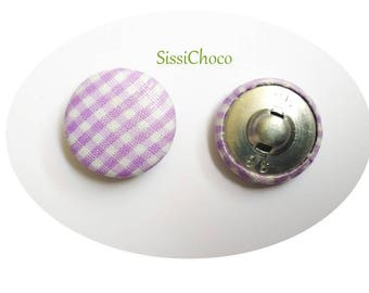 5 X 22mm gingham buttons