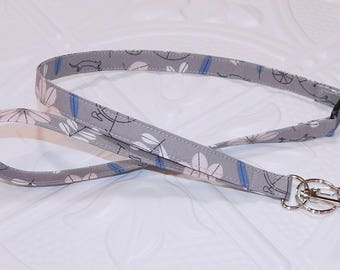 Gray Print Breakaway Safety Lanyard - Badge Holder - Key Lanyard - Teachers Gifts - Cute Key Chain - Lanyard With Id Holder - Id Holder