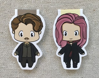 Magnetic Bookmarks - Wizard Couple