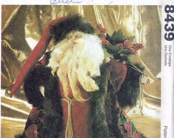 Victorian Santa Doll Sewing Pattern - Christmas Doll Sewing Pattern - Holiday Decor Sewing Pattern McCalls Crafts 8439