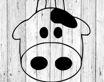 Cow Face SVG