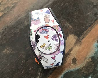 Character Collage with Puck Magic Band Decal | Magic Band 2.0 Decal | RTS Ready To Ship | Fits Adult & Child Bands
