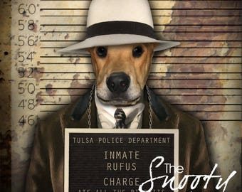 Dog Portrait, Mobster dog portrait, Dog Portrait Custom, Dog Portrait Custom, Pet Portraits, Custom Pet Portraits, Pet Portraits From Photo
