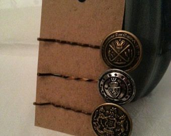 Coat of Arms Hairpins, Set of 3