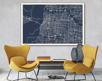 Memphis street map Etsy