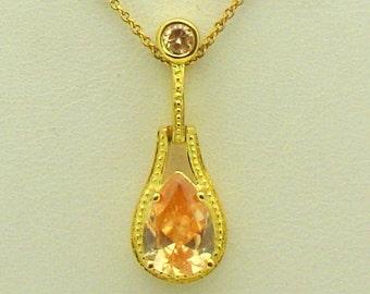 Vermeil & Cubic Zirconia 18in Necklace