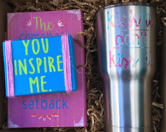 You Inspire Me // Best Friend Gift, Inspirational Gift, Cheer Up Gift, Birthday Gift, Christmas Gift, Miss You, Care Package, Gift Box