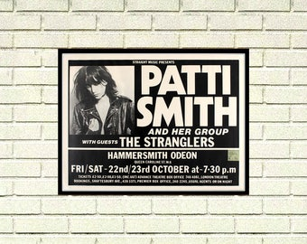 Reprint of a Patti Smith and the Stranglers Music Concert Poster
