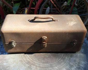 Rusty old metal toolbox