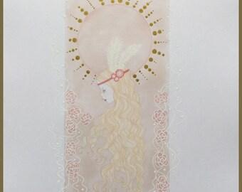 Original art 1920s girl art nouveau/deco fantasy lowbrow art