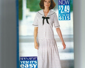 Butterick Misses'  Dress Pattern 6115