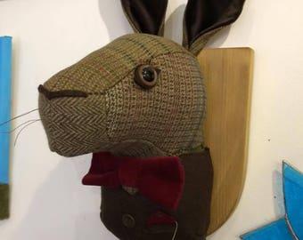 Textile hares head