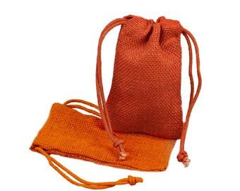 Sacs de mariage de toile de jute Orange 3 x 5 (Pack de 24)