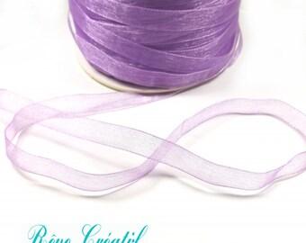 "5 meters Polyester Organza Ribbon, Violet, 1/4""(6mm)"