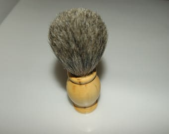 Badger shave real bristle Badger has been hand-turned in boxwood of Herault wood