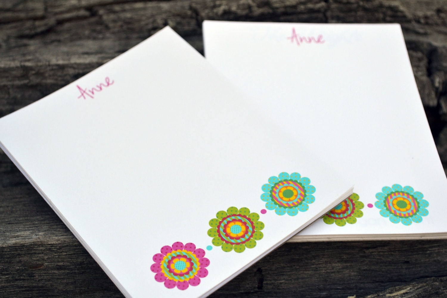 personalized notepads  personalized flower notepads