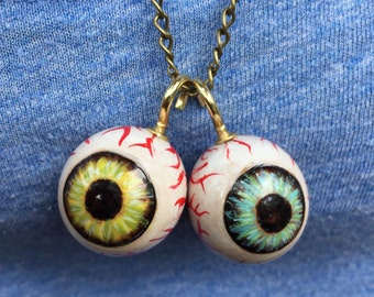 Eyeball pendant etsy woodburned eyeball pendant aloadofball Choice Image