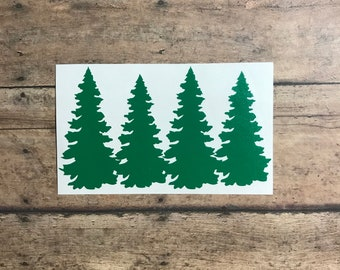 trees decal / forest / decal / trees / tree / camping / camper / adventure / woods / woodsy / outdoors / outdoorsy / hiking / mountains