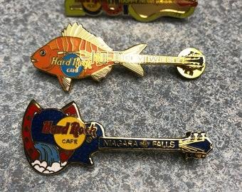 Set of 3 Hard Rock Cafe Guitar Pins