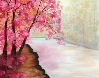 Blossoms On The River Bank