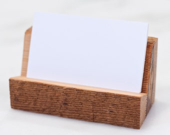 Raw Edge Reclaimed Wood Business Card Holder