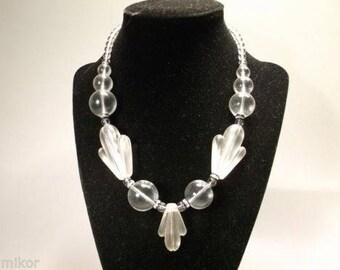 "Vintage Lucite Necklace. Beautiful. 16"" long"