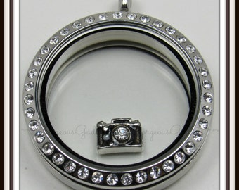 Camera Floating Charm for Glass Locket / Floating Locket