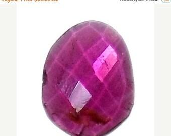 40% Sale -- Ruby , 8 x 12 mm Size , Cabochon , Oval Shape , 1 pc.