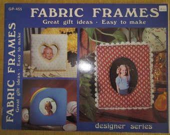 Fabric Frames, easy to make, instruction booklet,embroidery,applique,quilting