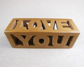 LOVE YOU word block