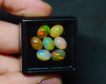 Lot of 6 Welo opals Ethiopian bundle ring gems!